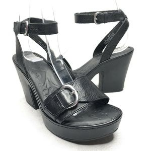 Born Astoria Platform Chunky Heels Ankle Straps